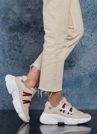 Dark Seer Ds3.5156 Sneaker 2021 Kadın Bej